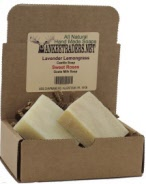 Lavender Lemongrass Castile & Sweet Roses Goat Milk Soap Assortment, All Natural, Handmade/2 Bars
